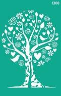 Самозалепващ шаблон - Дървото на живота - Размери 13 х 20 cm