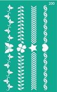 Самозалепващ шаблон - Фризове с орнаменти - Размери 13 х 20 cm