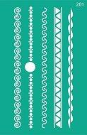 Самозалепващ шаблон - Фризове - Размери 13 х 20 cm