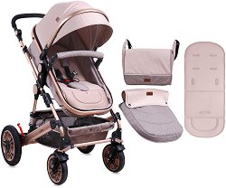Комбинирана бебешка количка - Lora - С 4 колела - количка
