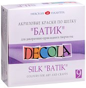 Текстилни бои за батик - Decola - Комплект от 9 цвята - боя