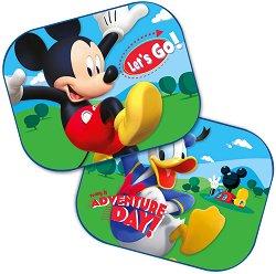 Сенници - Мики Маус и Доналд Дък - Комплект от 2 броя аксесоари за автомобил -