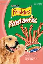 Friskies Funtastix - Лакомство с вкус на бекон и сирене за кучета - опаковка от 175 g -