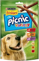 Friskies Picnic Variety - Лакомство с телешко, пилешко и агнешко месо за кучета - опаковка от 15 броя - продукт