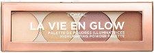L'Oreal La Vie En Glow Highlighting Powder Palette - Палитра с хайлайтъри за озаряващ ефект - крем
