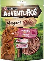 Adventuros Nuggets Boar Wild Flavour - Лакомство с аромат на глиганско месо за кучета в зряла възраст - опаковка от 90 g - продукт
