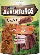 Adventuros Sticks Buffalo Wild Flavour - Лакомство с аромат на биволско месо за кучета в зряла възраст - опаковка от 120 g - продукт