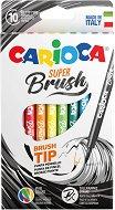 Флумастери с връх четка - Super brush - Комплект от 10 цвята