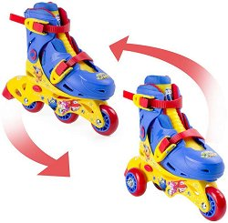 Детски ролкови кънки и ролери  2 в 1 - Супер крила -