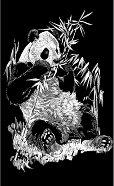 Панда - Скреч картина с размери 11 x 18 cm