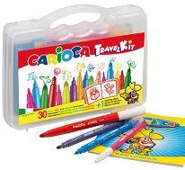 Комплект за рисуване - Travel Kid - В пластмасово куфарче