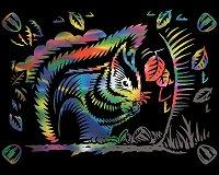 Катерица - Скреч картина с размери 20 x 25 cm
