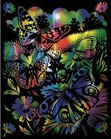 Пеперуди - Скреч картина с размери 20 x 25 cm