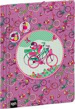 Папка с ластик - Папагали и велосипеди - Формат А4
