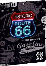 Папка с ластик - Route 66 - Формат А4
