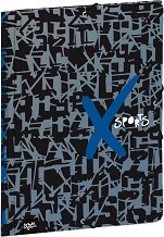 Папка с ластик - X Sports - Формат А4