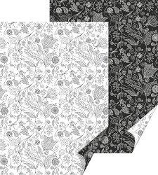 Картон за скрапбукинг - Zenart Flower - Размер 50 х 70 cm