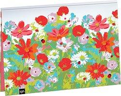 Папка за скици - Цветя и калинки - Формат В3