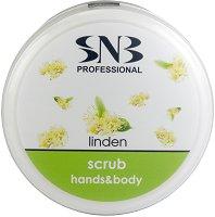 """SNB Linden Scrub Hands & Body - Скраб за ръце и тяло с екстракт от липа от серията """"Linden Flavour"""" - гъба за баня"""