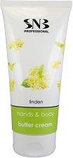 "SNB Linden Hands & Body Butter Cream - Крем за ръце и тяло за суха кожа от серията ""Linden Flavour"" - крем"