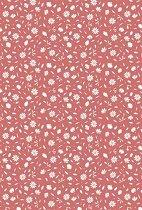 Картон за скрапбукинг - Маргаритки на червен фон