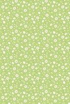 Картон за скрапбукинг - Маргаритки на зелен фон - Формат А4