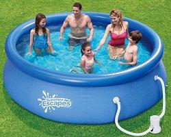 Кръгъл надуваем басейн - Summer Waves Quick Set - Комплект с филтърна помпа -