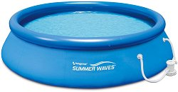 Кръгъл надуваем басейн - Summer Waves Quick Set - Комплект с филтърна помпа - басейн