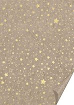 Картон за скрапбукинг - Златисти звезди - Формат А4