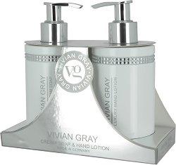 """Vivian Gray White Crystals Hand Lotion & Soap Gift Set - Подаръчен комплект с козметика за ръце от серията """"Crystals"""" - сапун"""