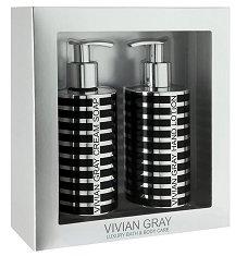 Vivian Gray Silver Stripes Cream Soap & Hand Lotion Set - Подаръчен комплект с козметика за ръце -