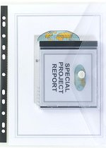 Папка с копче и джоб за CD за класьор