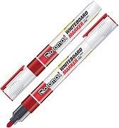Маркери за бяла дъска с объл връх 1.5 - 3 mm - Комплект от 10 броя