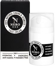 Nero 100% Natural Caviar & Seaweed Face Cream - Крем за лице за мъже с натурални съставки -