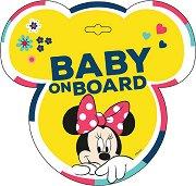 Табела с надпис Baby on Board - Мини Маус - Аксесоар за автомобил - продукт