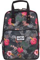 Ученическа раница - Cubic: Coral Hibiscus - раница