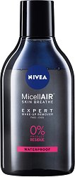 Nivea MicellAIR Make-Up Bi-Phase Micellar Cleansing Water - Двуфазна мицеларна вода за почистване на грим - паста за зъби