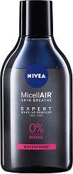 Nivea MicellAIR Make-Up Bi-Phase Micellar Cleansing Water - Двуфазна мицеларна вода за почистване на грим - маска