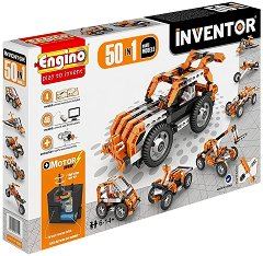 """Машини с електромотор - 50 в 1 - Детски конструктор от серията """"Inventor"""" -"""