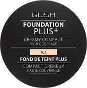 Gosh Foundation Plus + Creamy Compact - Кремообразен компактен фон дьо тен - крем