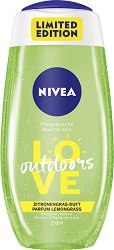 Nivea Love Outdoors Shower Gel - четка