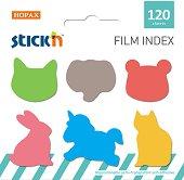 Самозалепващи индекси - Животни - Комплект от 120 броя
