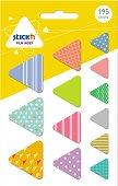 Самозалепващи индекси - Триъгълници - Комплект от 195 броя