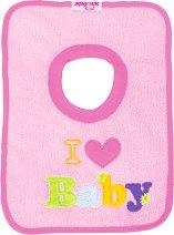 Лигавник с надпис - I love Baby - За бебета от 1 до 5 месеца -