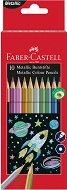 Цветни металикови моливи - Комплект от 10 цвята