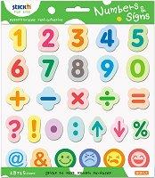 Самозалепващи листчета - Цифри и символи - Комплект от 420 листчета с височина 3.5 cm