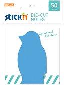 Самозалепващи листчета - Пингвин - Комплект от 50 листчета с размери 4 x 7 cm