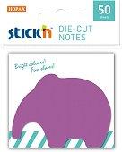 Самозалепващи листчета - Слонче - Комплект от 50 листчета с размери 7 x 5 cm