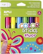 Неонови гел-стик пастели  - Комплект от 6 цвята х 6 g