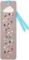 Метален разделител за книга с връзка: Цветни капки -